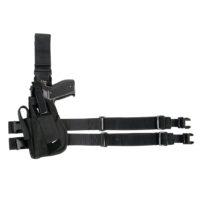Beenholster de luxe linkshandig nylon zwart 355404