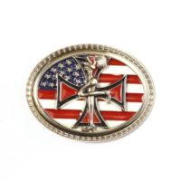 Buckle gesp Amerikaanse vlag met maltezer kruis 245111-1897