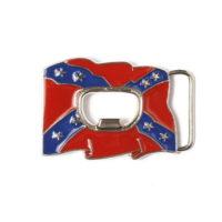 Buckle gesp Rebel vlag met flesopener 245111-1880
