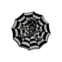 Buckle gesp schedel met web zwart-wit 245111-1887