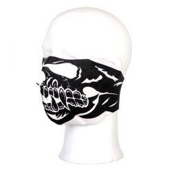 Gezichtsmasker biker half face neopreen schedel zwart 219301-2809