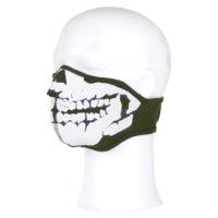 Gezichtsmasker neopreen 3d schedel groen 47215311A