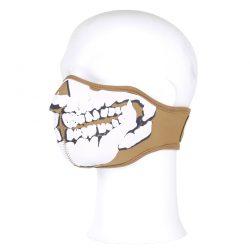 Gezichtsmasker neopreen 3d schedel khaki 47215314A