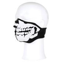 Gezichtsmasker neopreen 3d schedel zwart 47215313A