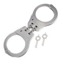 Handboeien set dubbel lock metaal 451501
