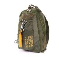 Parachute rugtas groot 27x15x42cm nylon groen 35950511A
