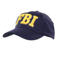 Pet baseball cap FBI blauw katoen 215151-216