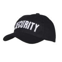 Pet baseball cap SECURITY zwart katoen 215151-217