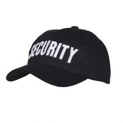 Pet baseball cap SECURITY zwart katoen 215151-217