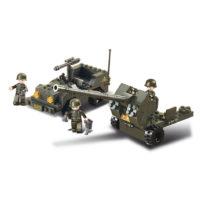 Sluban bouwset flak kanon met jeep M38-B5900 413105