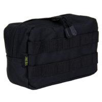 Utility pouch 21x8x12cm nylon zwart 47338313A