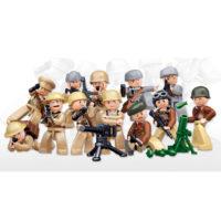 Sluban bouwset 12 minifiguren in display 413223-detail
