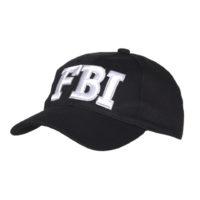 Pet baseball cap FBI zwart katoen 215151-276