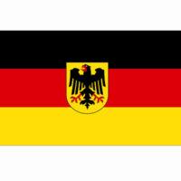 vlag Duitsland met adelaar 100x150cm